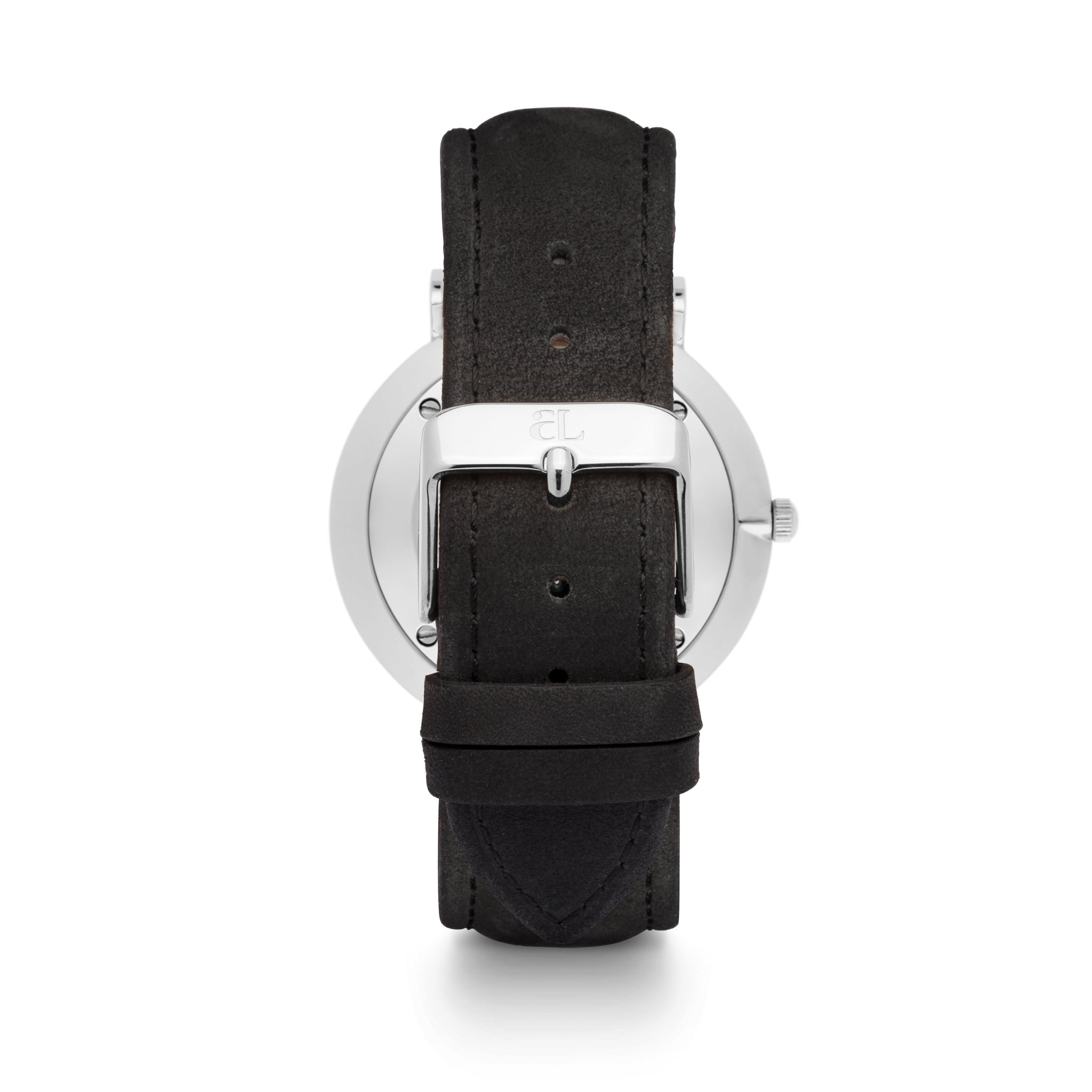 Black Leather 40 Strap (Silver)