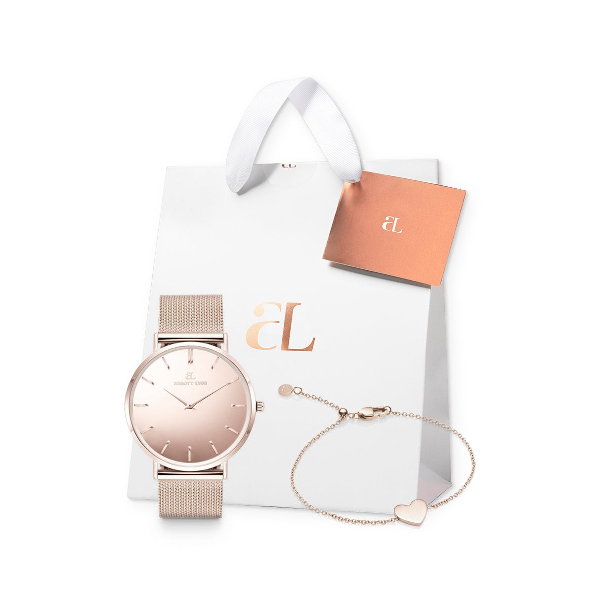 The Blush Chain Mirror Heart Gift Set