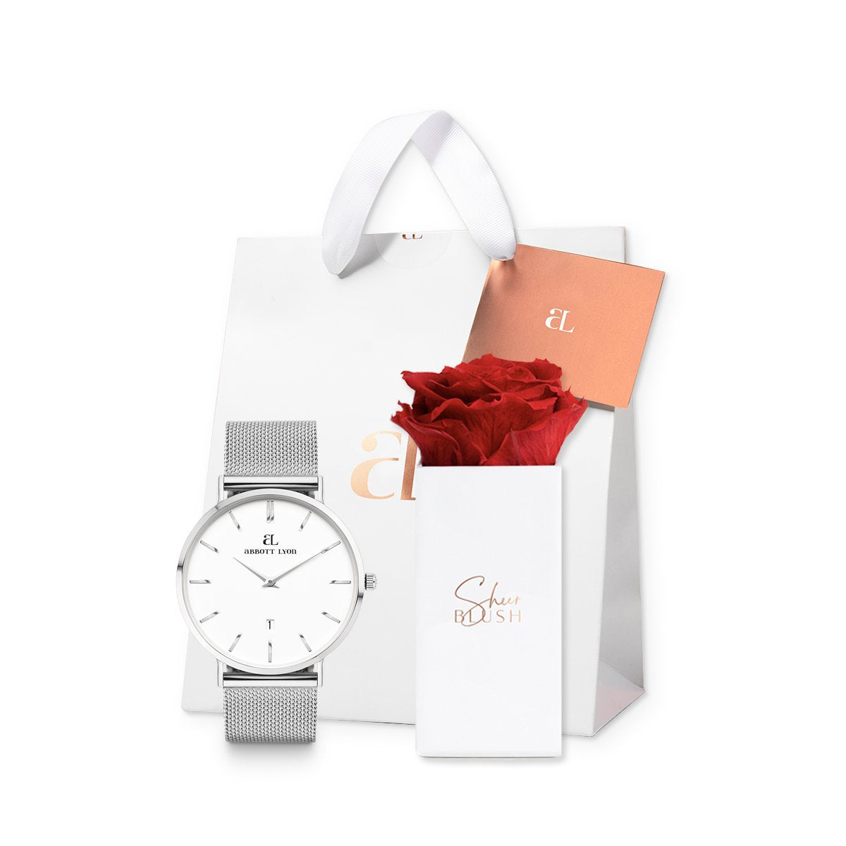 Silver Chain Kensington 40 Single Rose Gift Set
