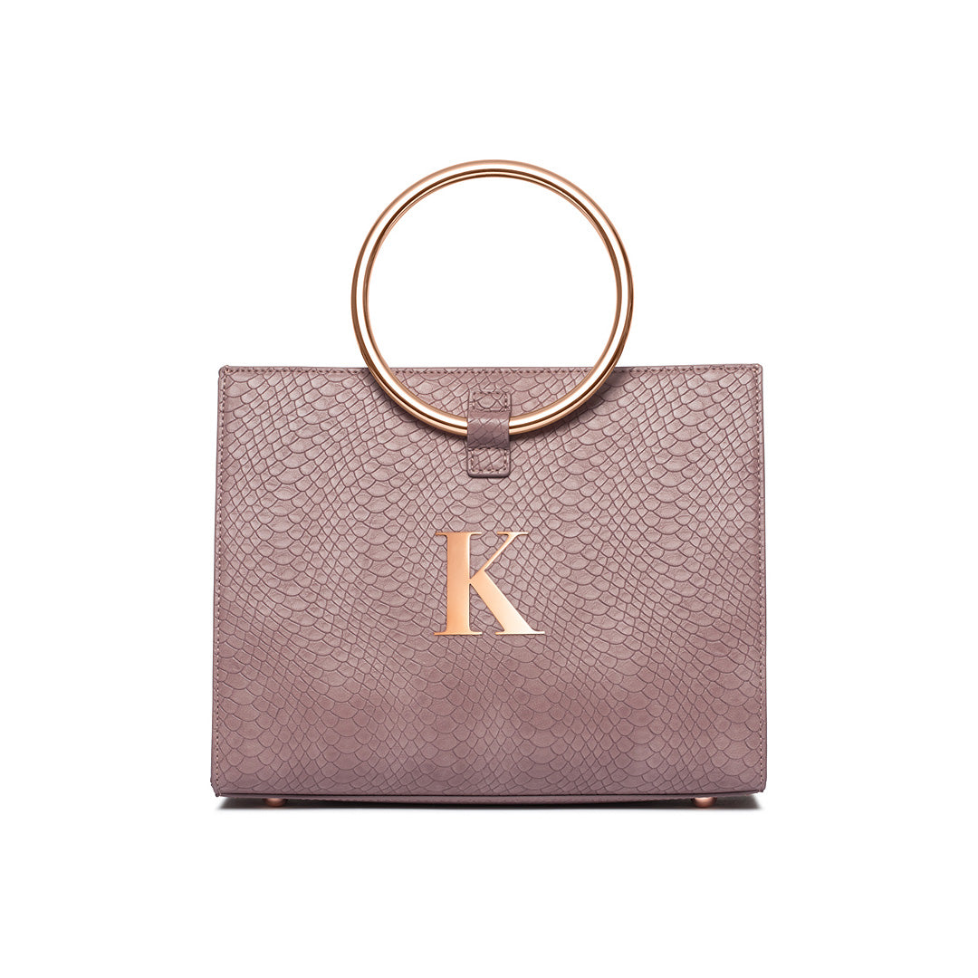 Moda Top Handle Bag (Mauve/Rose Gold)