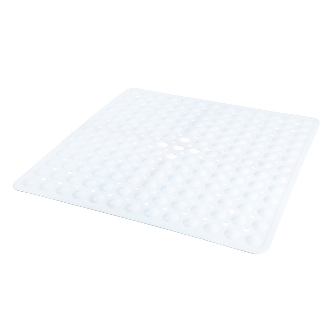 Square White Shower Mat