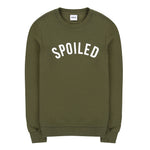 Curved Logo Sweater  Green Military