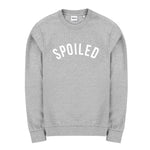 Curved Logo Sweater Grey Melange