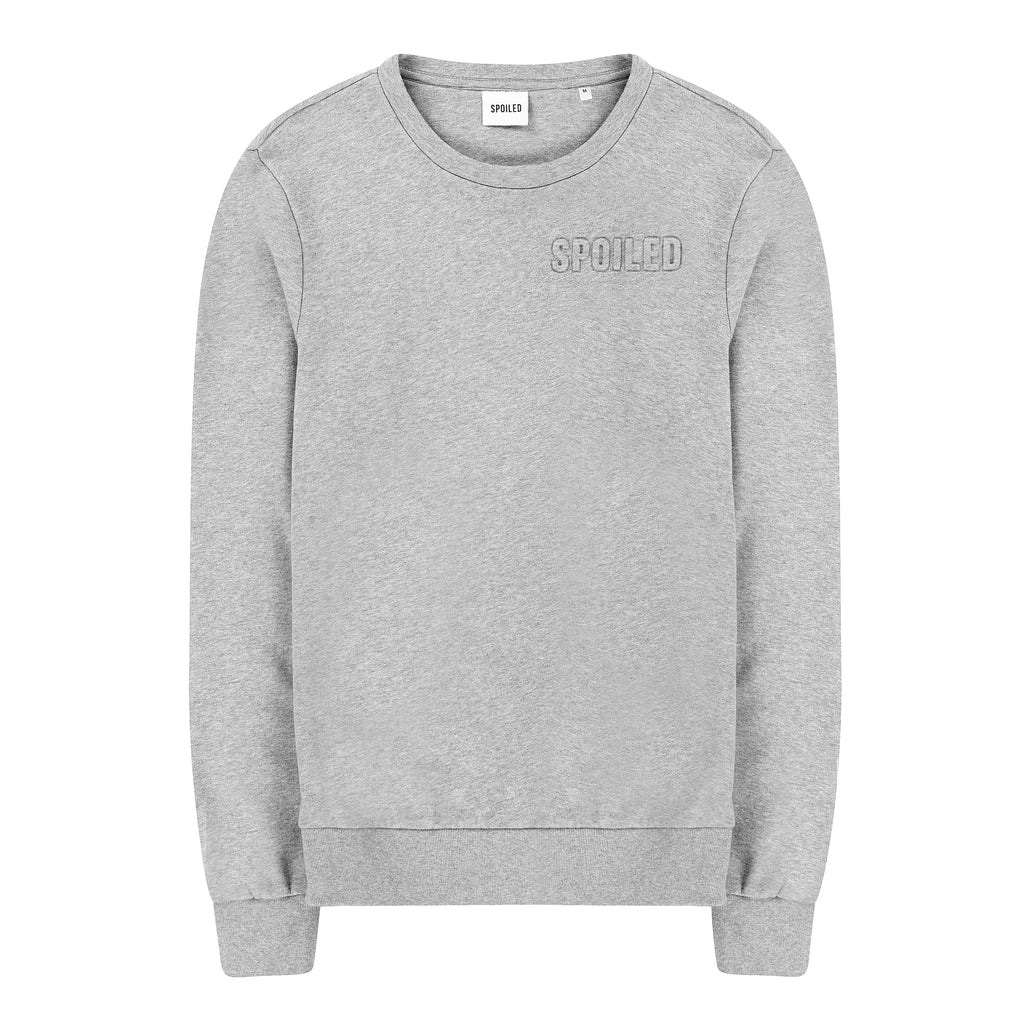 Embossed Logo Sweater Grey Melange