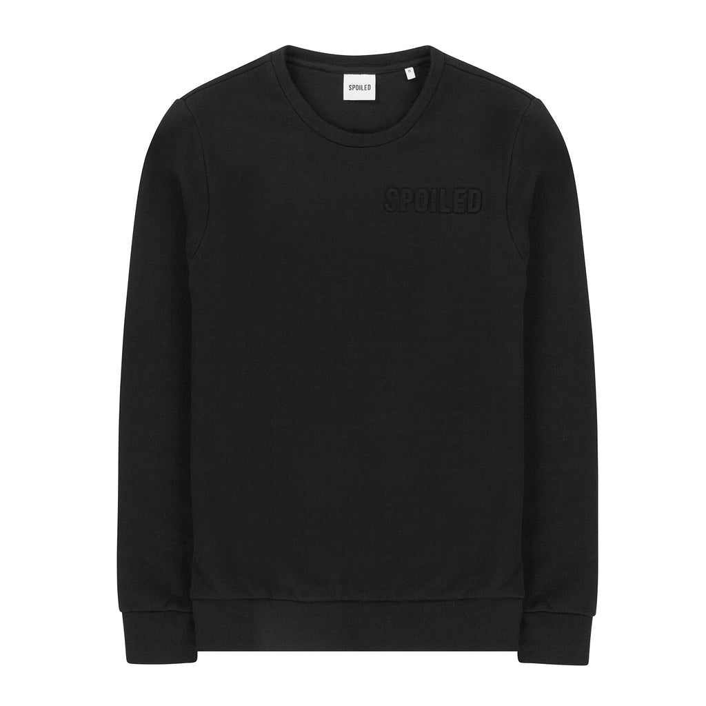 Embossed Logo Sweater Black
