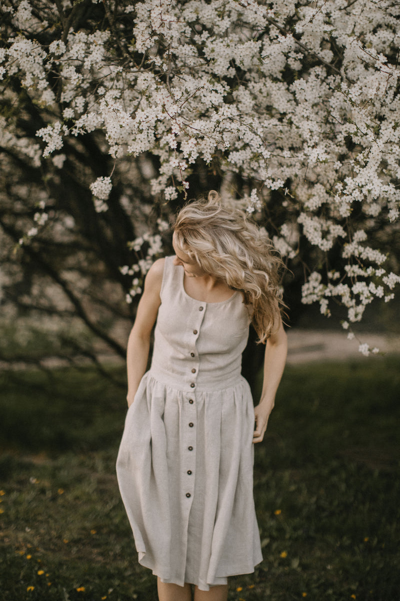 Linen bridesmaid dresses