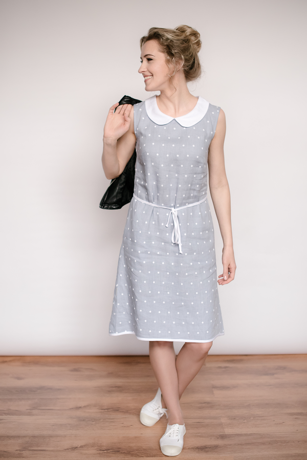 Linen Peter pan collar dress