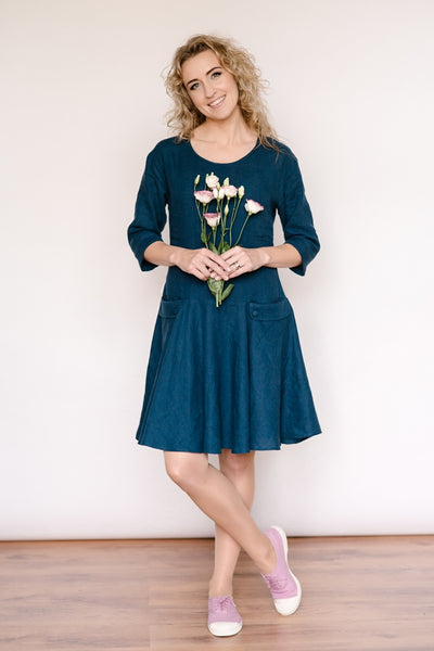 Linen double dress (2in1)