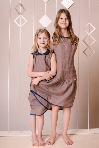 Linen girls dress