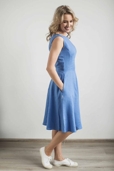 Linen elegant sundress