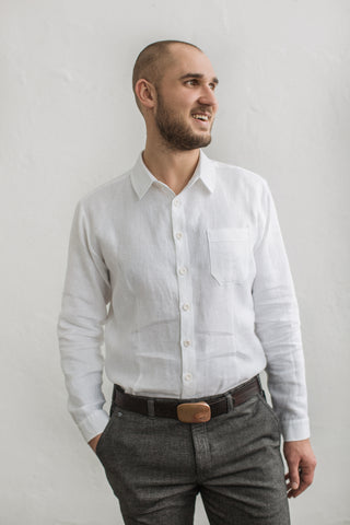 Linen groom shirt