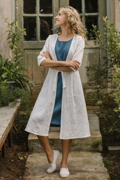 Light linen coat