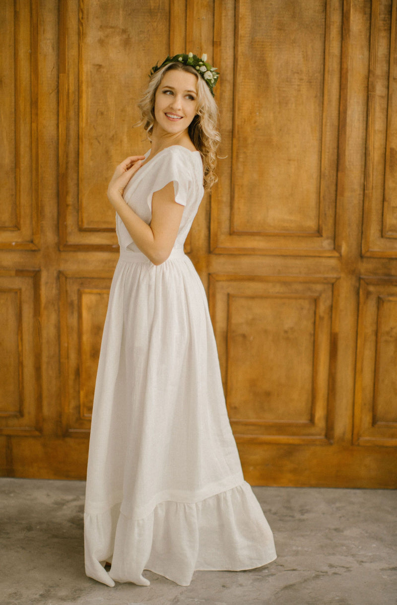 Linen Wedding Dress