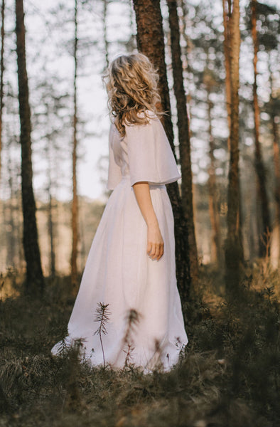 Linen Bohemian Wedding Dress