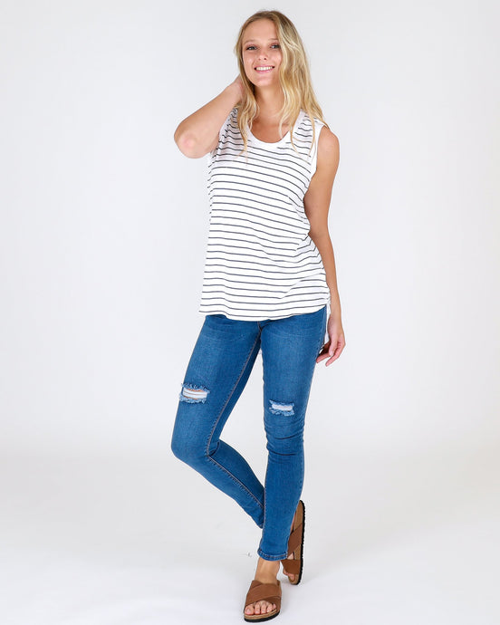 Madison Tank - Navy Stripe