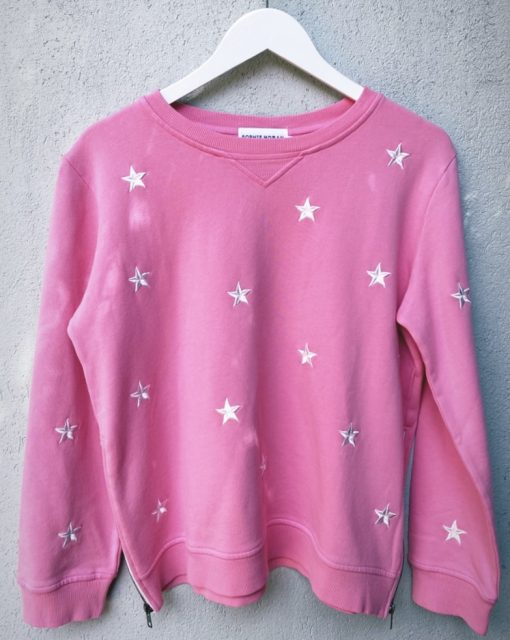 Zip Sweat Embroided Star - Pink