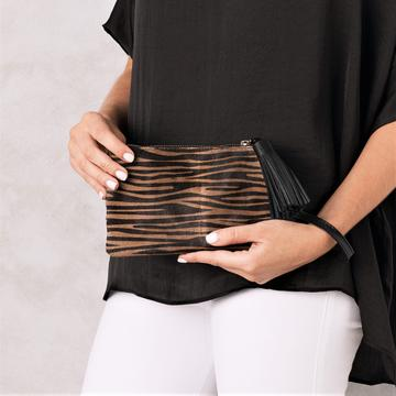 Mini Mara Clutch - Zebra