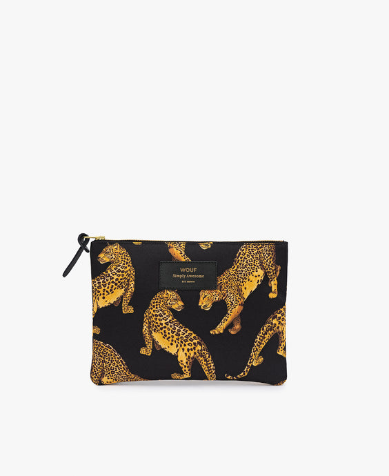 WOUF Classic Pouch - Black Leopard