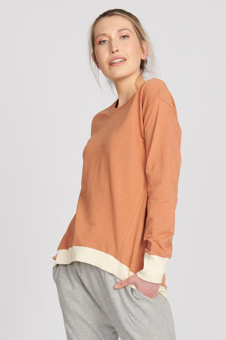 Brooklyn Sweater - Nutmeg/Cream