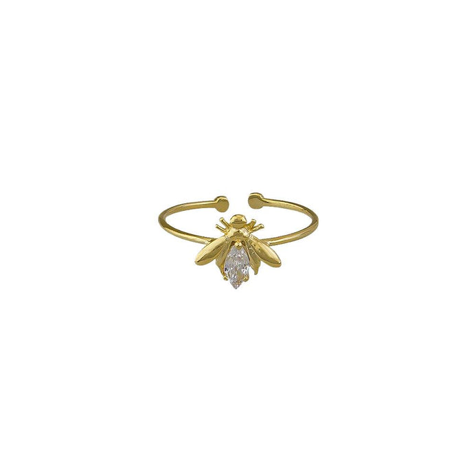 Crystal Bee Ring - Gold.