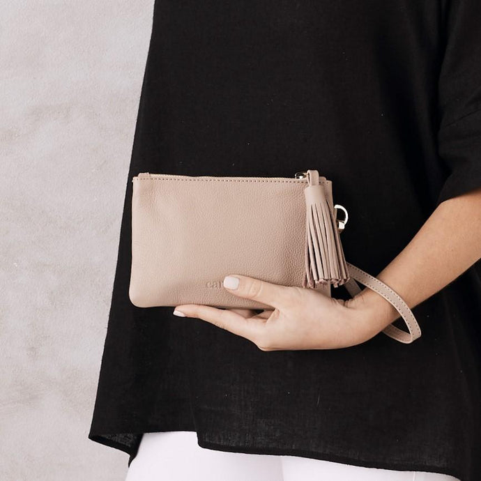 Mini Mara Clutch - Nude