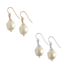 Baroque Pearl with Crystal - Gold,Silver