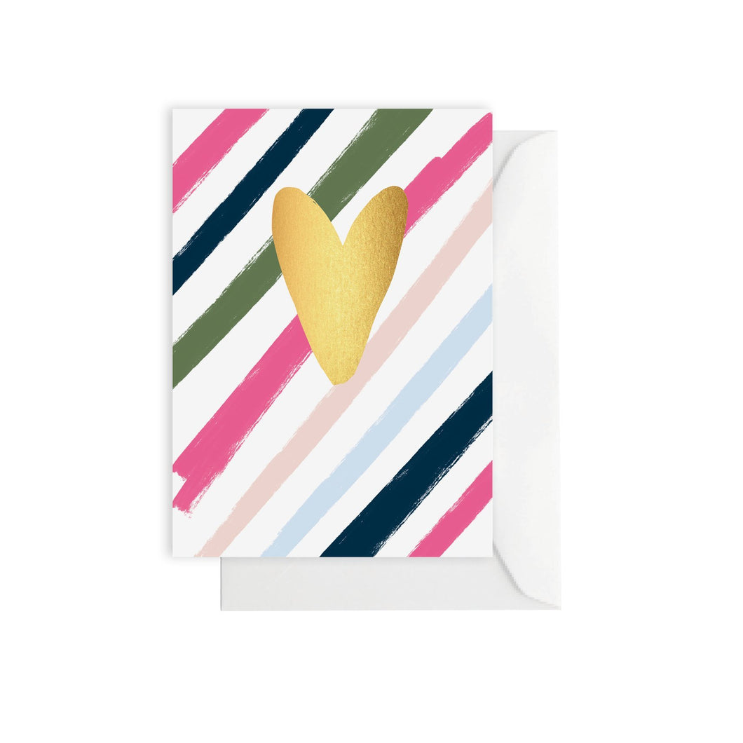 ELM Card - Heart Stripes