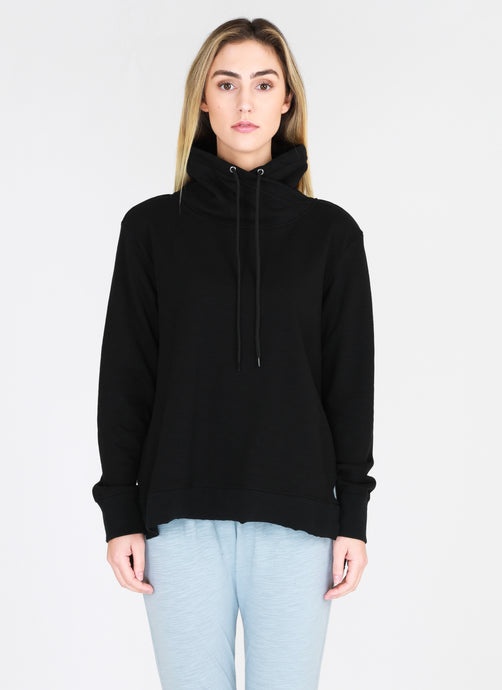 Alicia high neck Sweat - Black