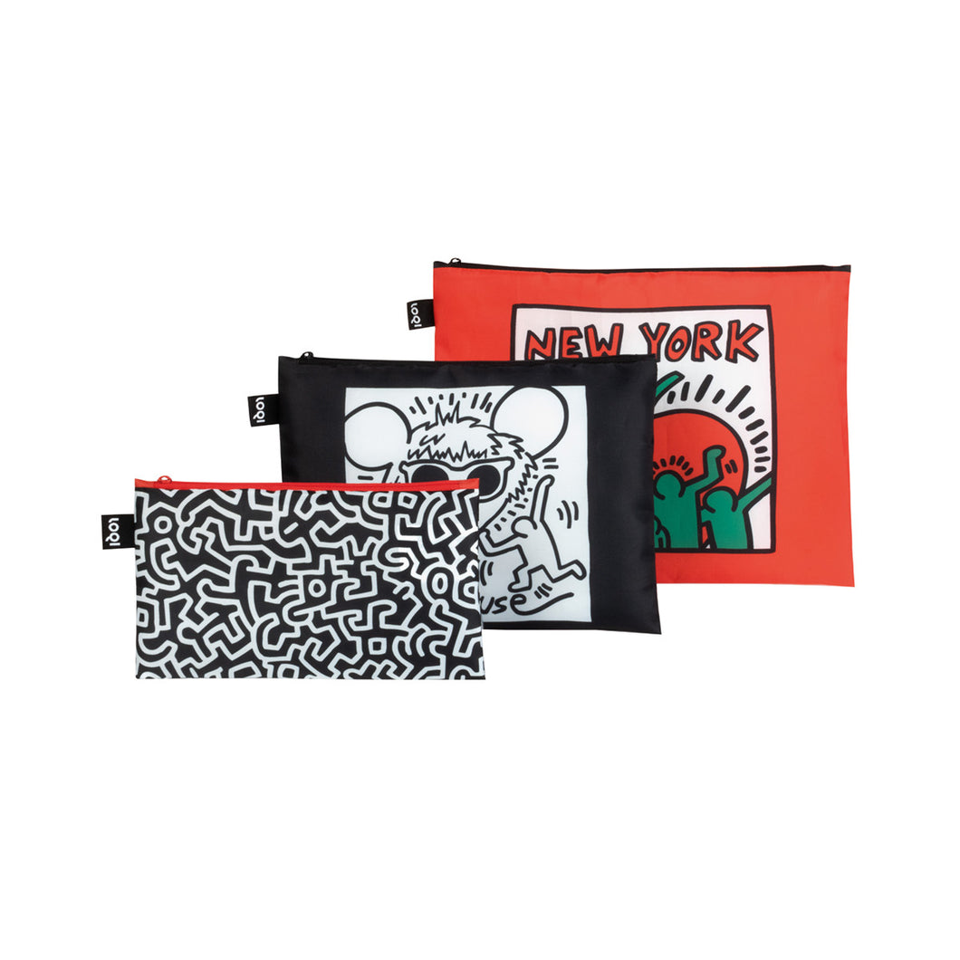 Loqi Zip Pocket (Set of 3) - Keith Haring