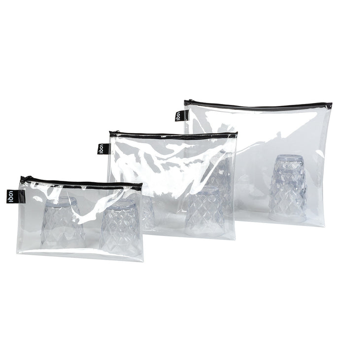 Loqi - Transparent Zip Pouch 3pack