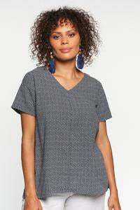 Lawrence Linen Top - Navy