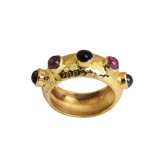 Tutti Frutti Wide Gold Ring