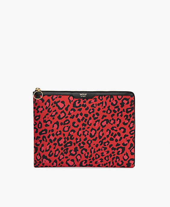 WOUF Ipad Sleeve - Red Leopard