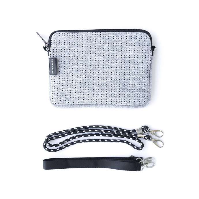 Prene - Pixie Crossbody Bag - Light Grey Marle