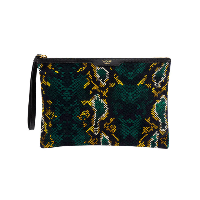 WOUF Luxe Night Clutch - Snakeskin