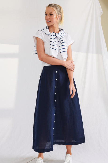Portofino Skirt - French Navy