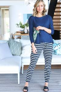 Stripe Jogger Pant - Nautical Stripe