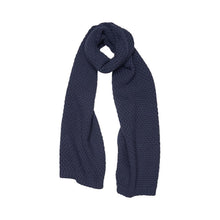 Bobble twist scarf - Blue