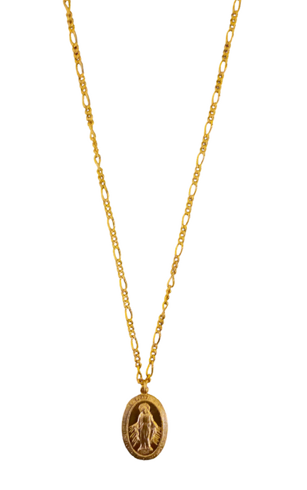 Our Lady Charm Necklace - Gold, Silver