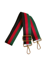 Stripe Bag Strap - Black/Red/Green