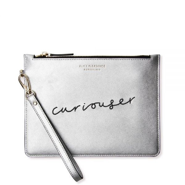 Alice Pleasance Leather Wristlet - Silver