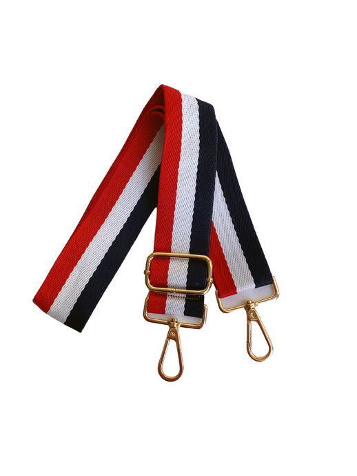 Stripe Bag Strap - Red/White/Blue