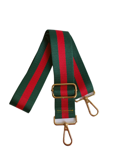 Stripe Bag Strap - Green/Red