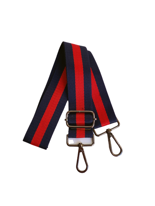 Stripe Bag Strap - Navy/Red