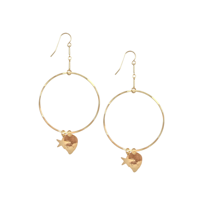gold earrings by misuzi