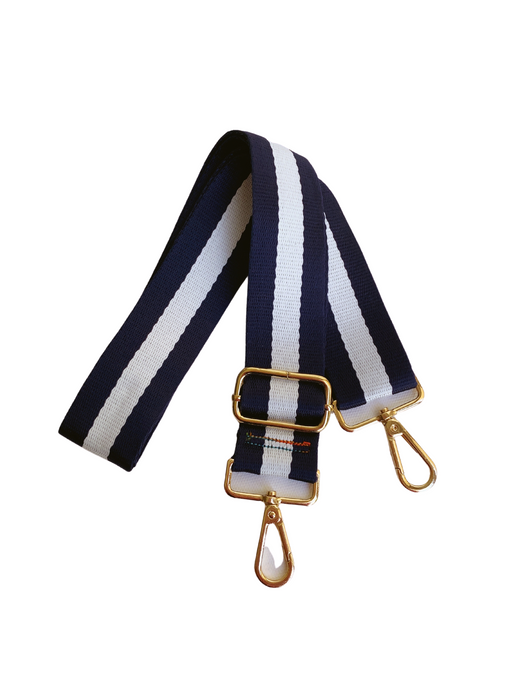 Stripe Bag Strap - Navy/White
