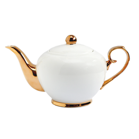 Large Teapot - Ivory/gold