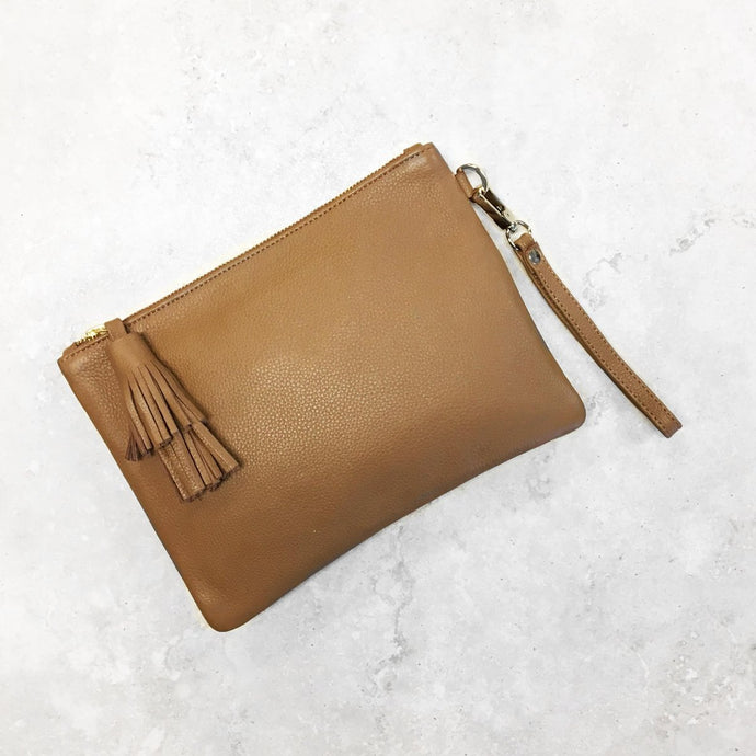 Large Mara Clutch - Tan