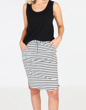 Olivia Skirt - Grey Stripe