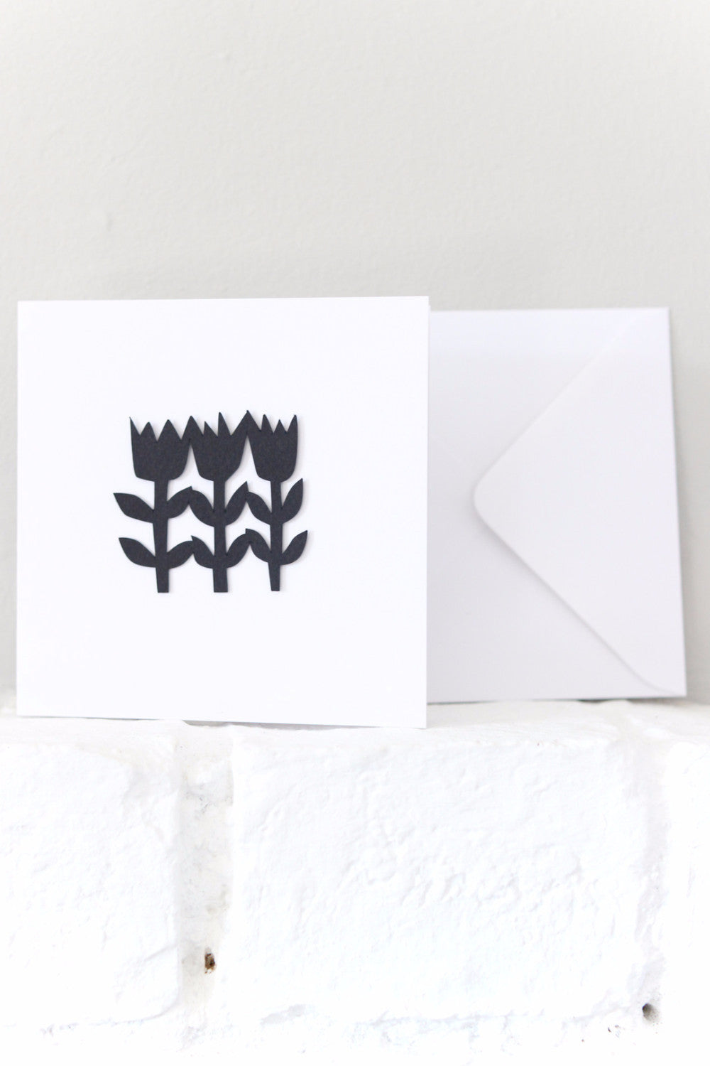 Paper Cut Tulip Card